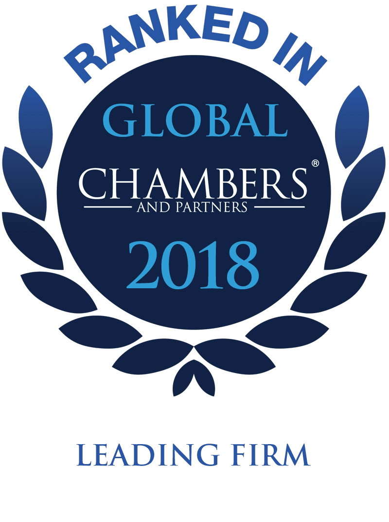 Ranked in Global Chambers 2018 Leading Firm badge
